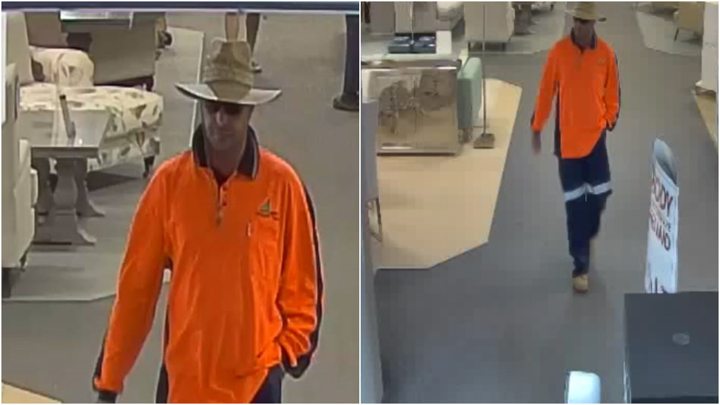 The suspect is described as being aged in his 40s. (NSW Police)