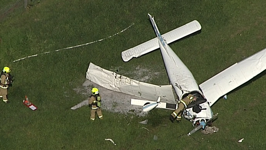 Two injured in light plane crash near Camden Airport