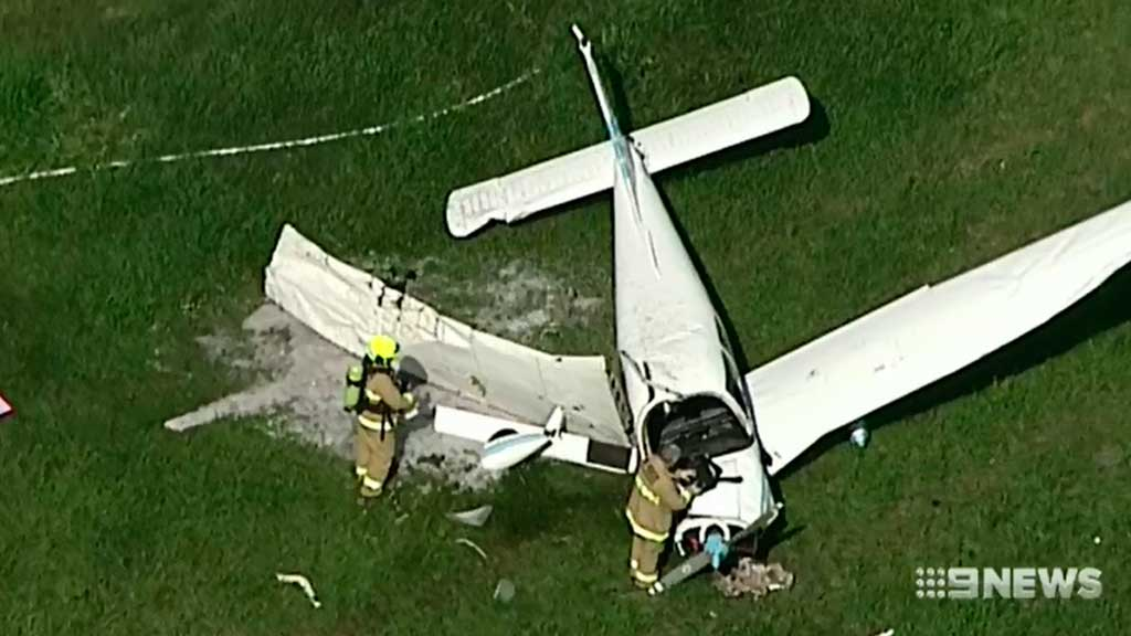 Couple critical after plane crashes in Sydney paddock