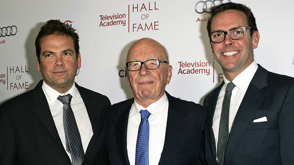 Lachlan, Rupert and James Murdoch. (AAP)