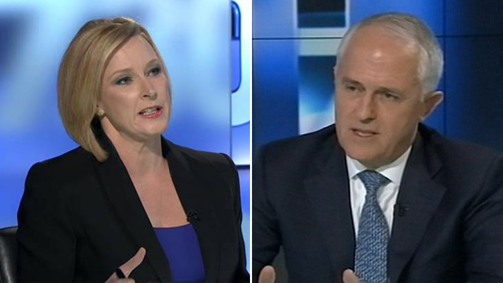 Veteran journalist Leigh Sales has grilled Prime Minister Malcolm Turnbull over recently announced changes to Australian citizenship laws. (ABC)