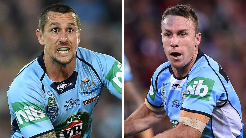 Mitchell Pearce and James Maloney should be reunited for the Blues says Anthony Minichiello. (AAP)