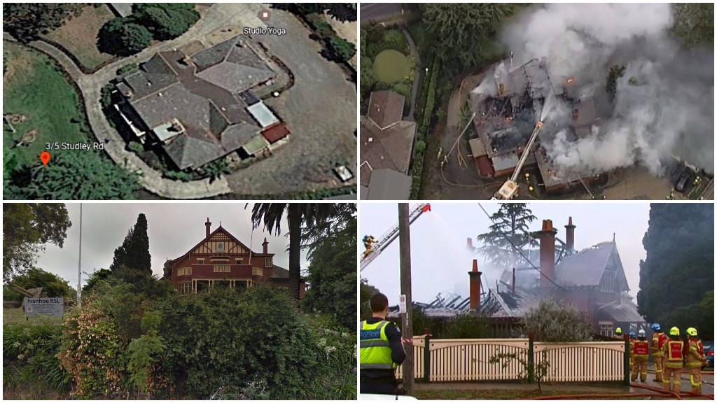 Flames ravage historic Ivanhoe RSL just days before Anzac Day