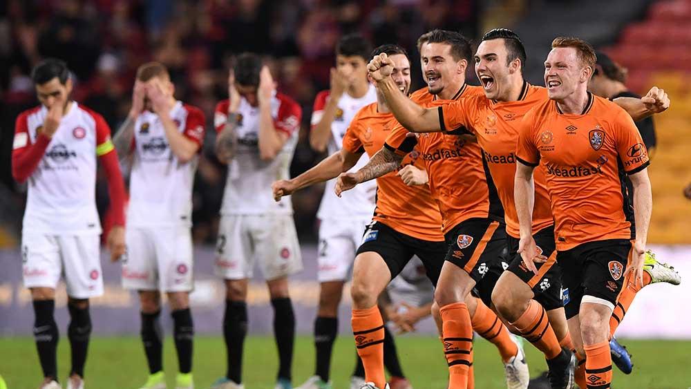 The Brisbane Roar needed penalties to beat the Wanderers. (AAP)