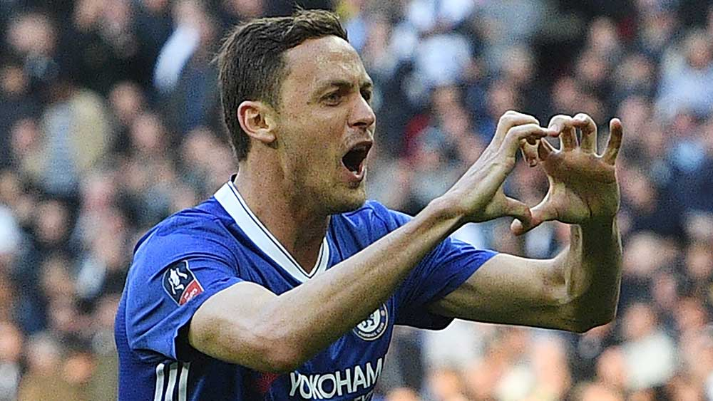 Nemanja Matic has helped Chelsea beat Tottenham in the FA Cup. (AAP)