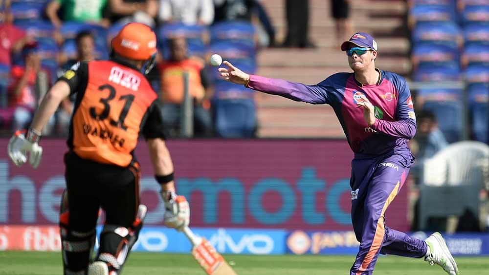 Steve Smith got the better of Australian teammate David Warner in the Indian Premier League. (AFP)