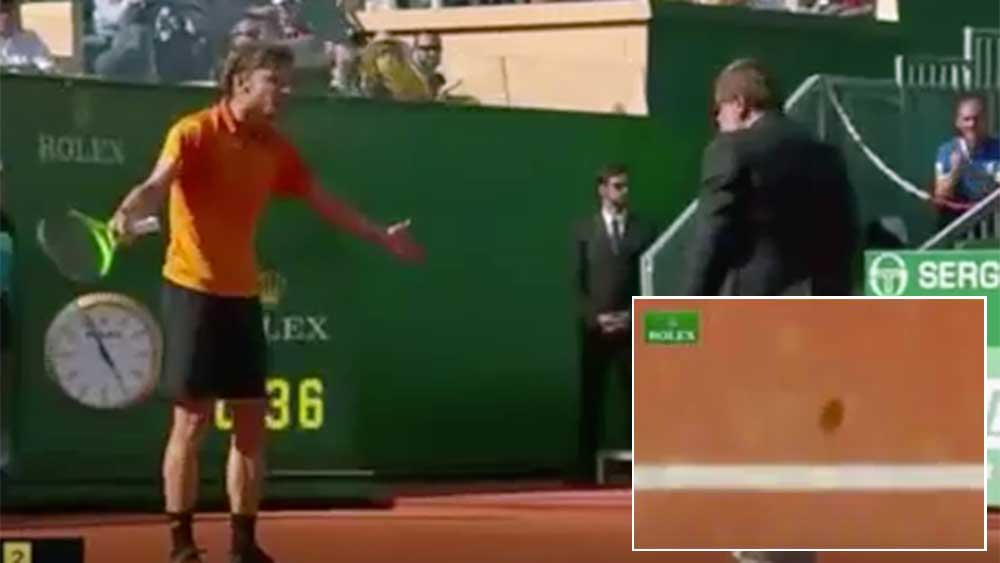 Nadal into final after controversial call