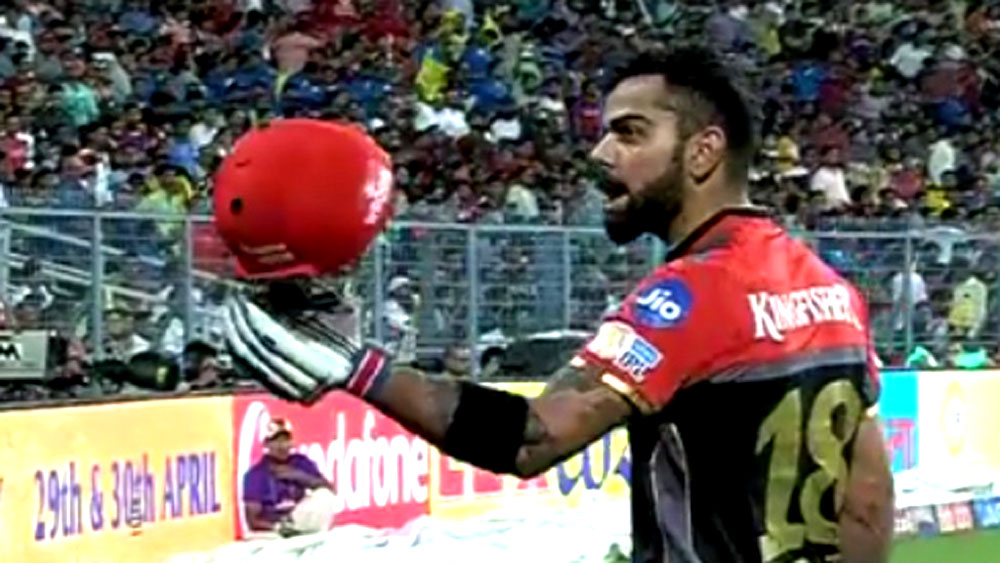 Royal Challengers Bangalore captain Virat Kohli.