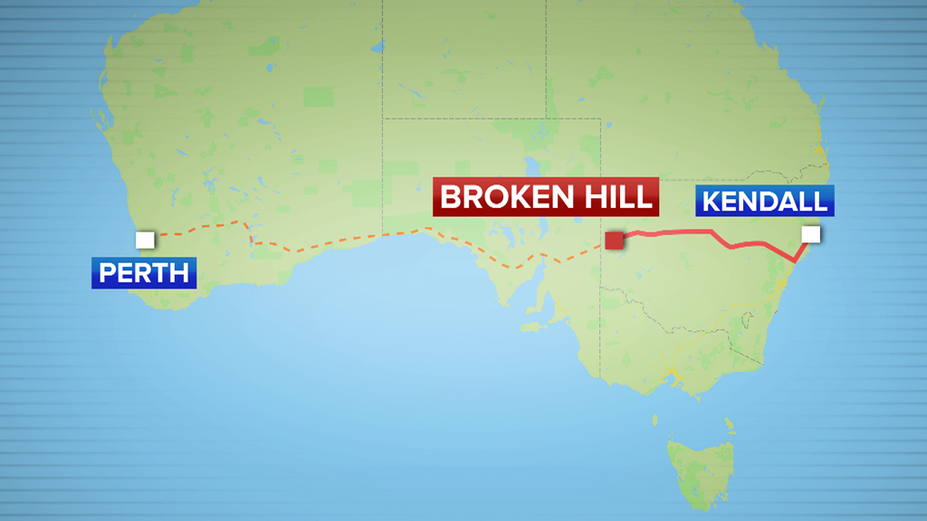 The boy was pulled over some 1300 kilometres into his journey. (9NEWS)