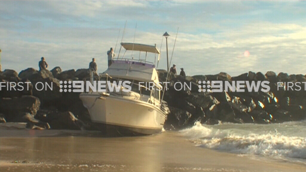 Skipper blows three times the legal alcohol limit after crashing boat onto Forster beach