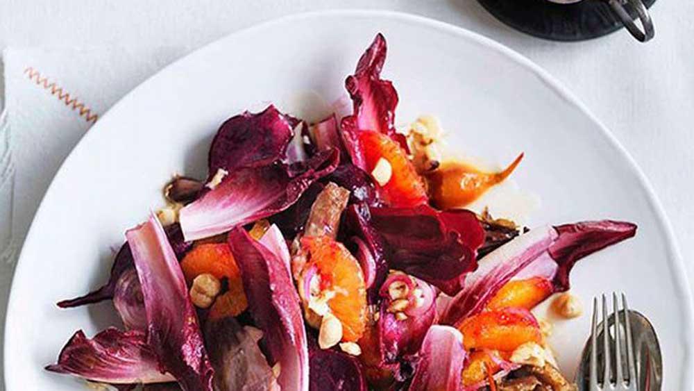Duck orange and beetroot salad
