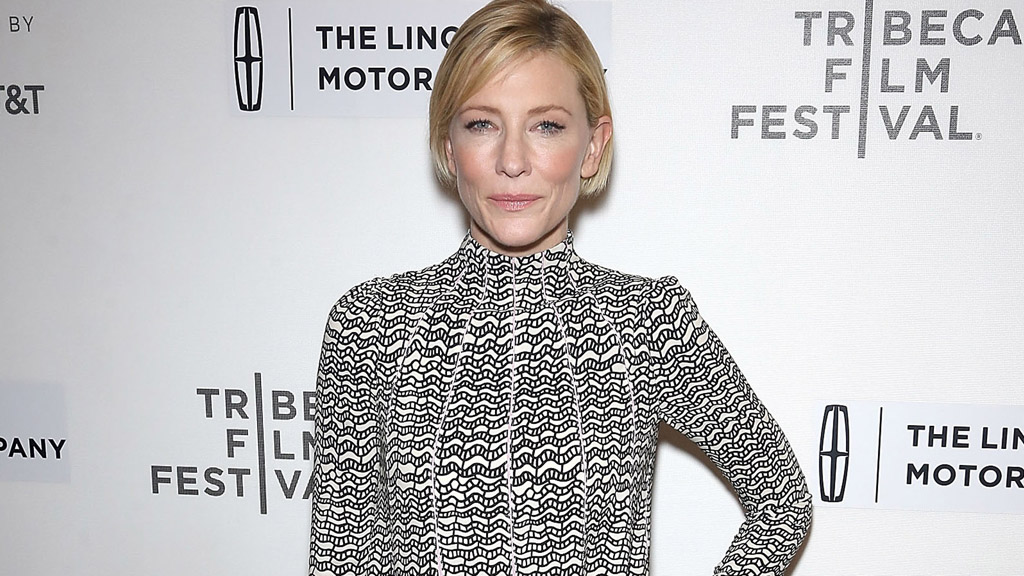 Cate Blanchett in another brave fashion choice. Image: Getty