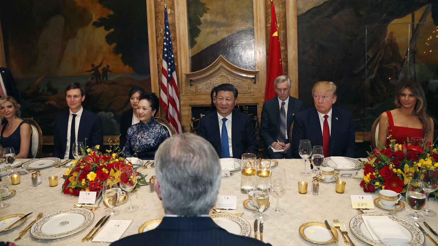 Donald Trump with Xi Jinping. (AAP)