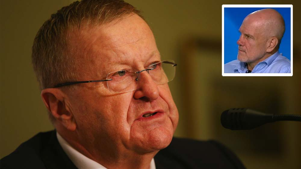 AOC President John Coates and (inset) Peter FitzSimons. Main Pic: Getty.