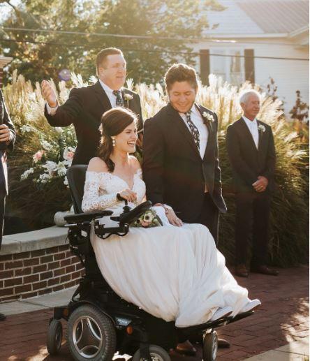 Quadriplegic bride weds her high - 52.8KB