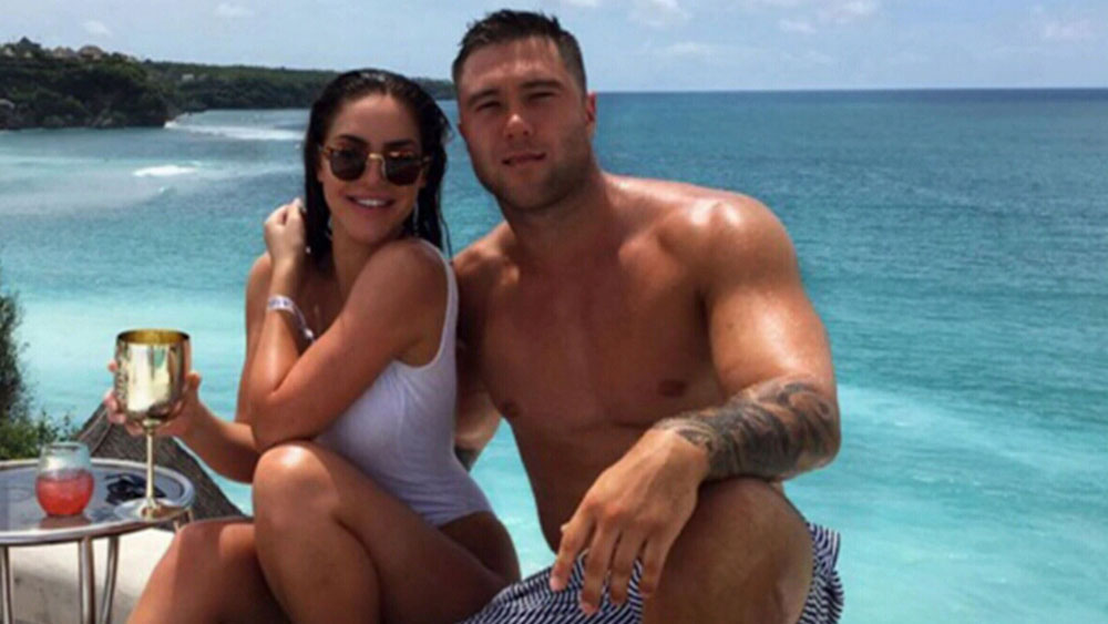 Manly forward Curtis Sironen and his girlfriend Patricia.