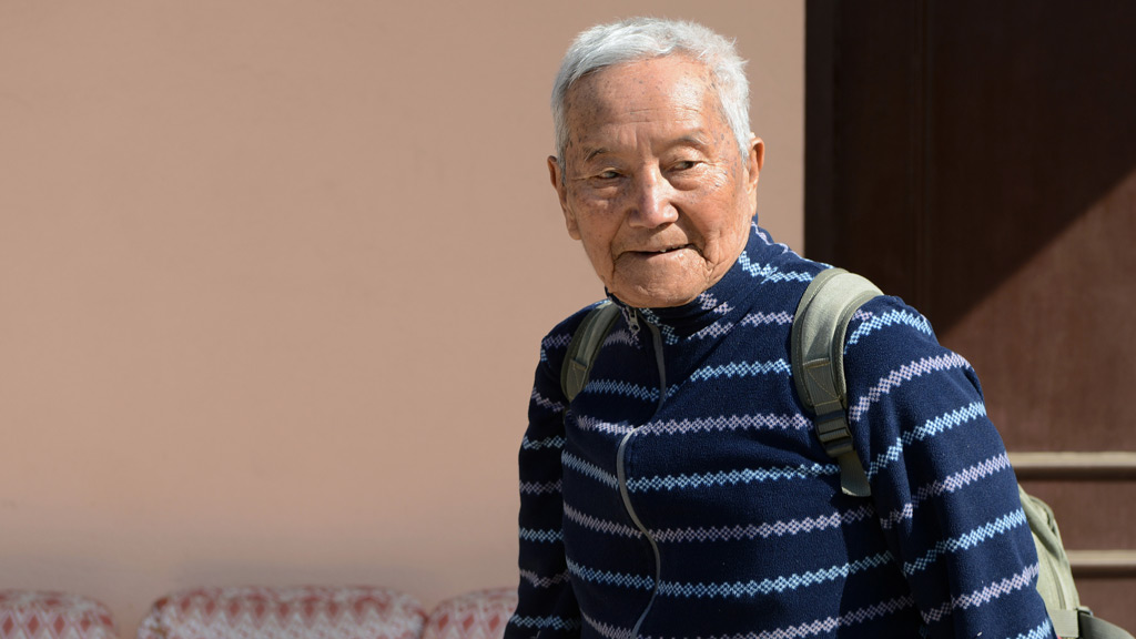 Min Bahadur Sherchan, an 85-year-old ex-Gurkha, has died while trying to make his ascent of Mount Everest. (AFP)