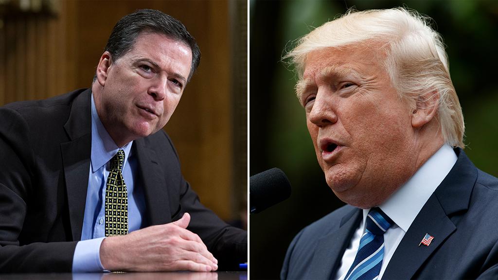 Donald Trump's firing of FBI chief James Comey (keft) caused an uproar in Washington.