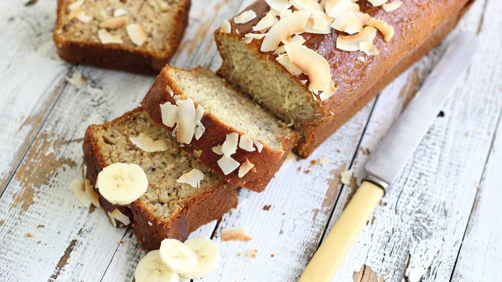 Banana and coconut bread by Australian Bananas