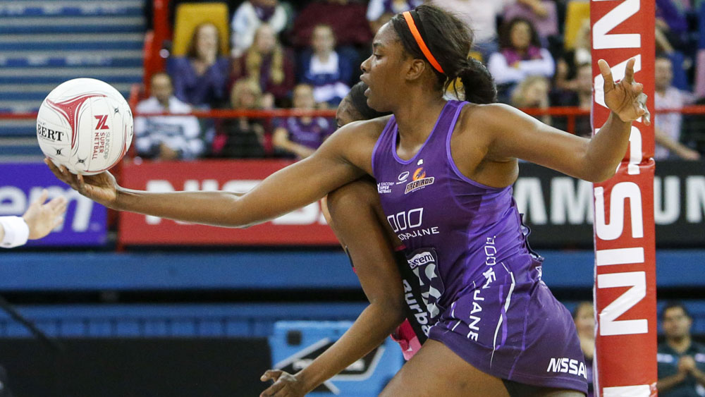 Queensland Firebirds star Romelda Aiken. (AAP)