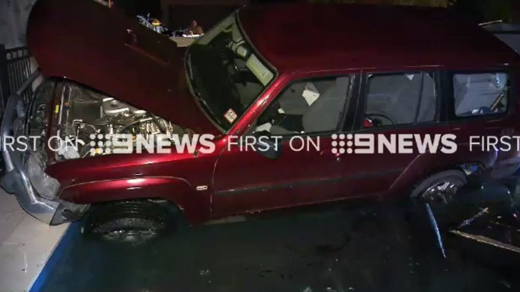 Police believe the collision was caused by the Nissan's driver having a medical episode. (9NEWS)