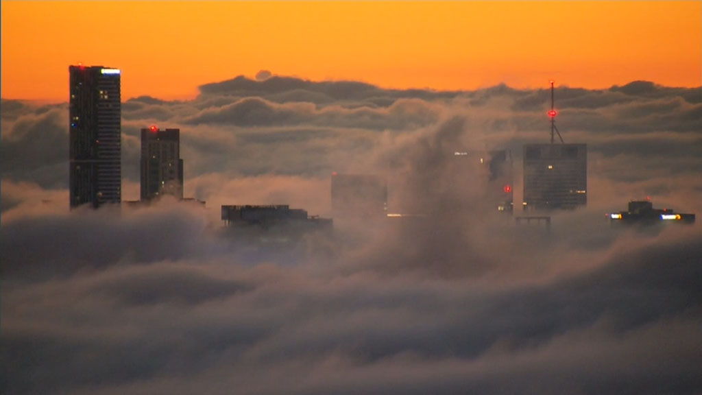 The fog is expected to clear by 8am. (9NEWS)