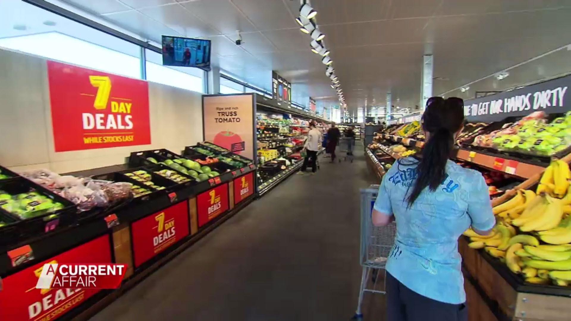 An aisle in an Aldi shop