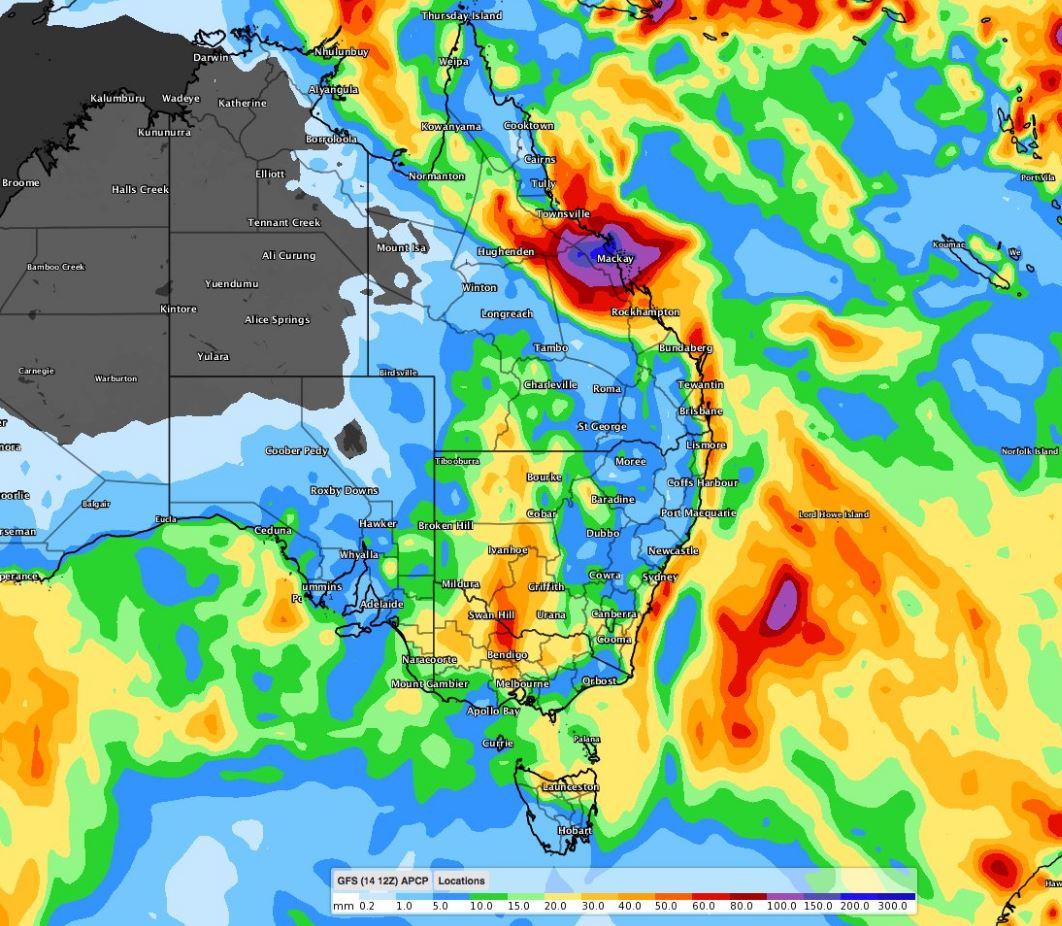 Late-week soaking looms for eastern Australia