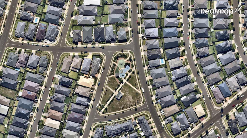 The recent The Ponds development. (Nearmap)