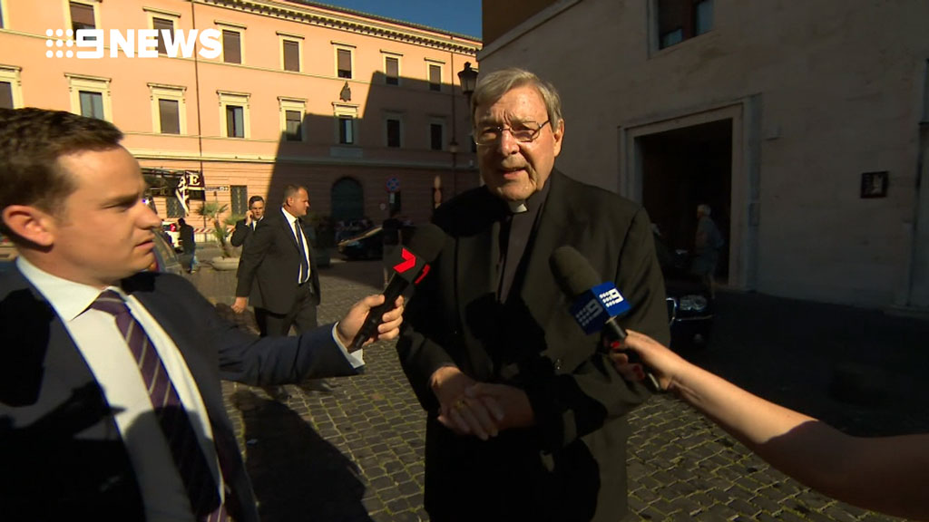 Cardinal Pell proclaimed his innocence. (9NEWS)