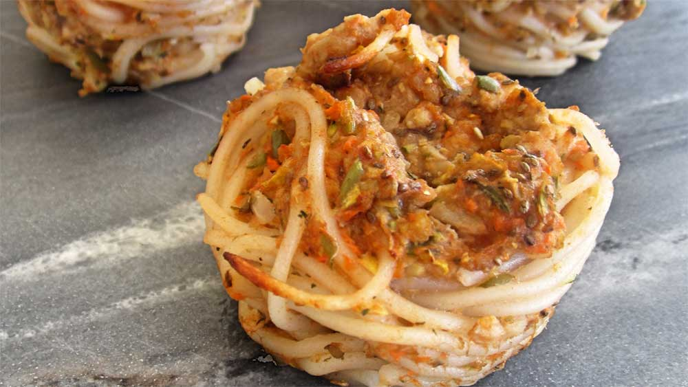 Wheat-free spaghetti cakes recipe