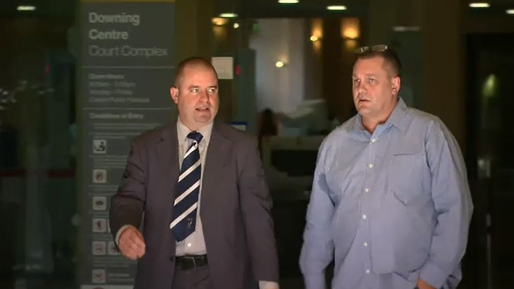 Dean Yarnton outside court. (9NEWS)