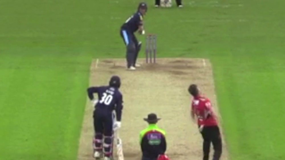 Gary Ballance dismissed in hilarious fashion in one-day cup