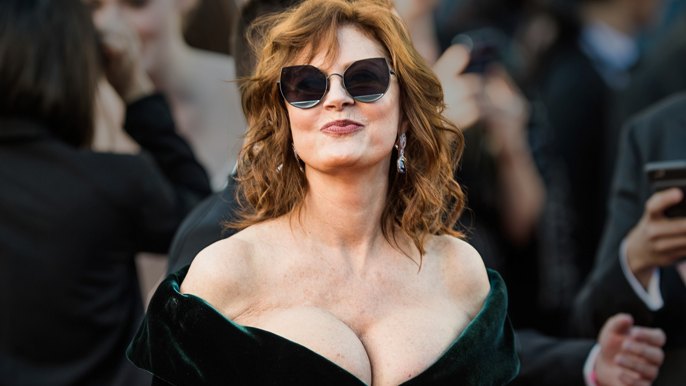Susan Sarandon Cannes 2017 cleavage