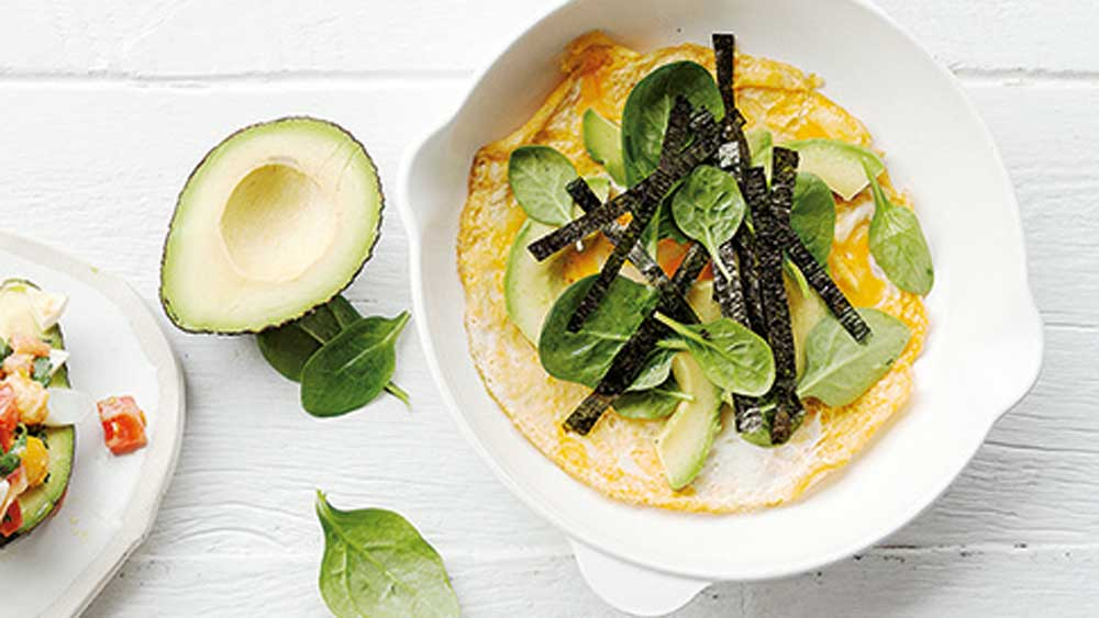 Libby Weaver's omelette with greens
