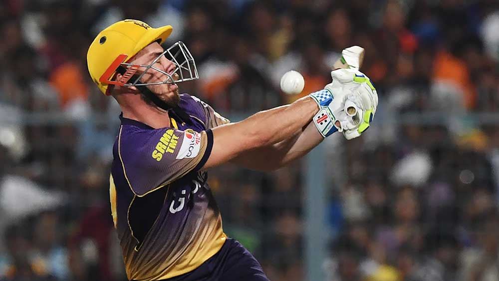 Aussie batsman Chris Lynn failed to fire for the Knight Riders. (AFP)