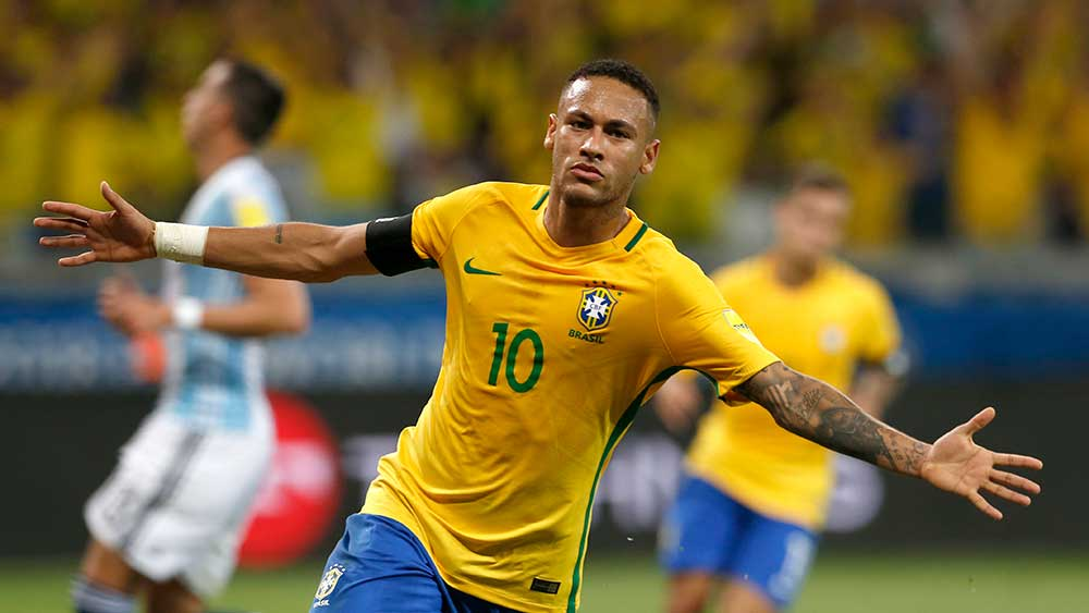 Neymar was left out of the Brazilian squad to travel to Australia. (AAP)