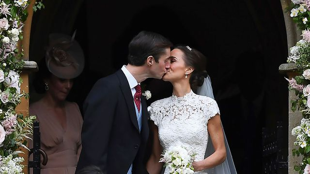 The first pictures of newlywed Pippa Middleton and James Matthews