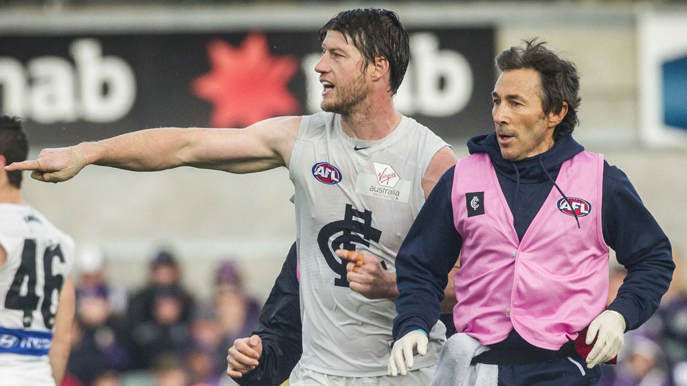 Carlton coach Brendon Bolton defends Blues' AFL medical staff over Sam Rowe injury