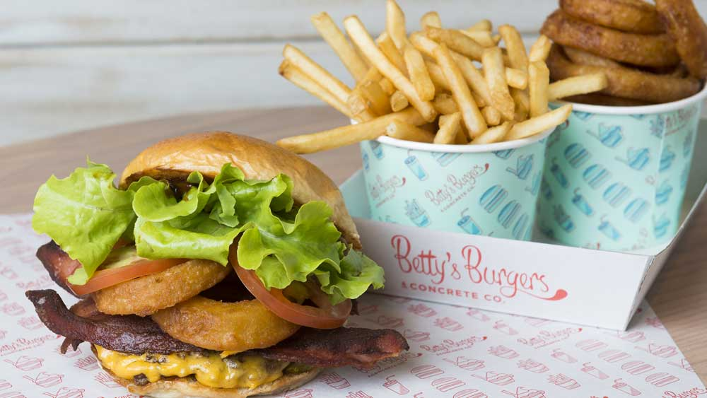 Betty's Burgers barbecue burger