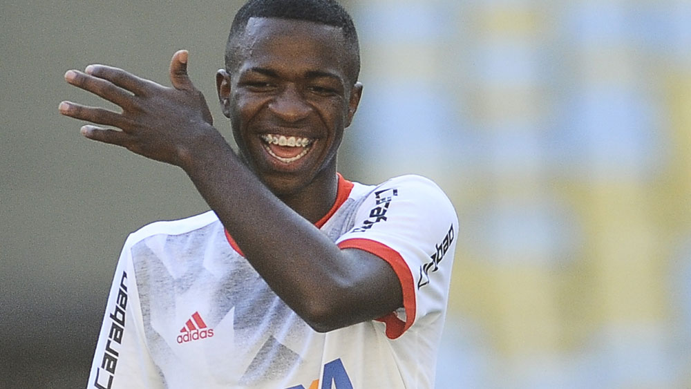 Brazilian 16-year-old Vinicius Jr has been sold to Real Madrid for $67million. (AAP)