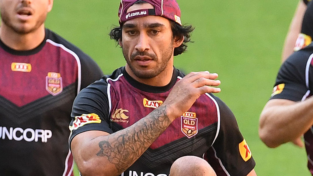Injured Queensland star Johnathan Thurston still hopes to leave his mark on Origin I. (AAP)