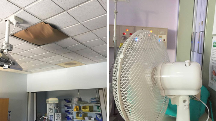 Photos taken by the patient from inside the Lismore Base Hospital's birthing suite and the women's ward in early 2017. (Supplied)