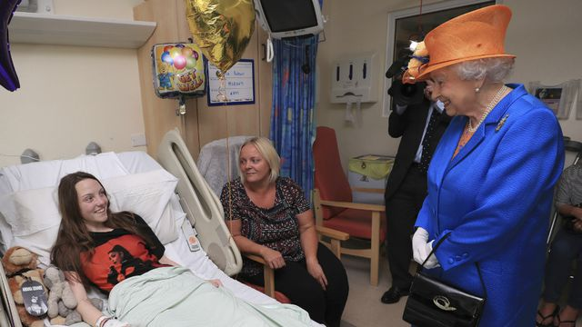 In pictures: The Queen visits children injured in Manchester attack