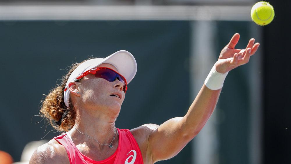 Samantha Stosur scored a tough win over Daria Gavrilova in the final in Strasbourg. (AAP)
