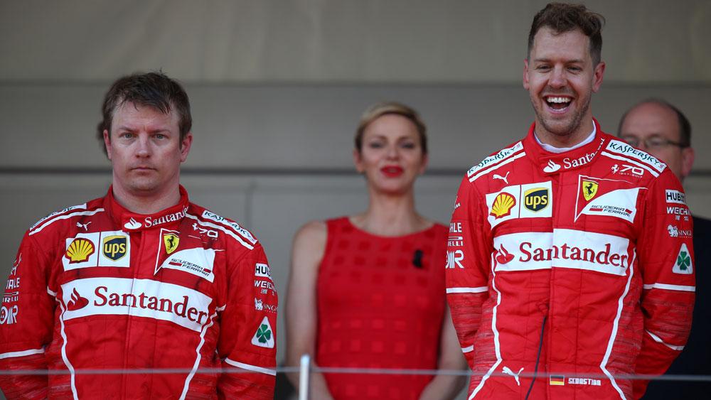 Kimi Raikkonen and Sebastian Vettel.