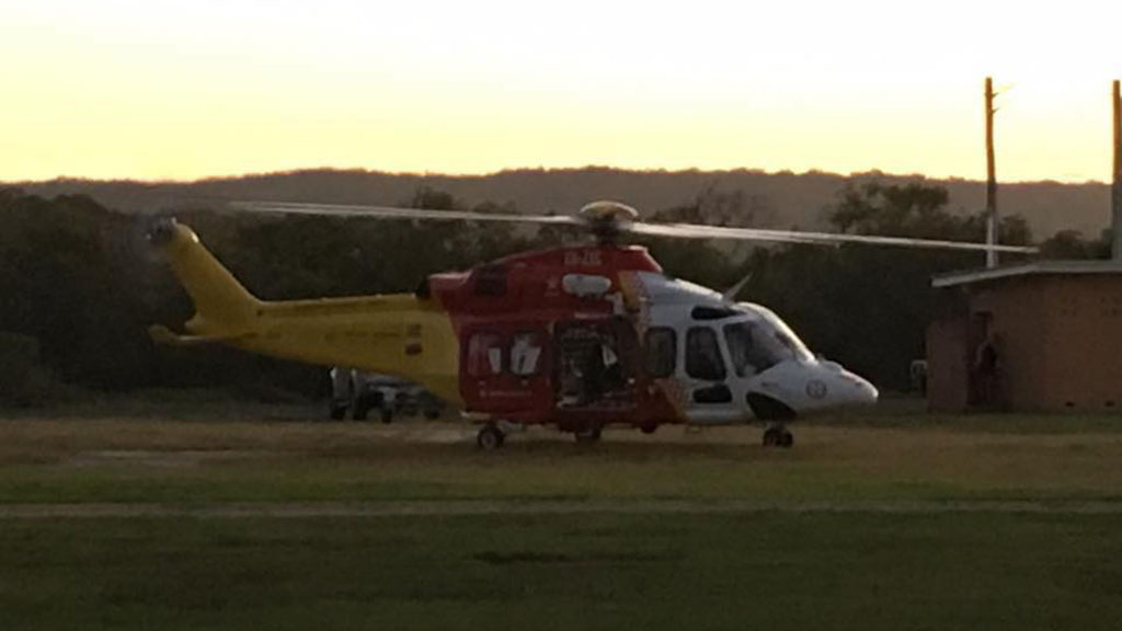 A Westpac Rescue helicopter took Mr Selwood to a nearby hospital where he was treated for his injuries. (Marine Rescue Evans Head)