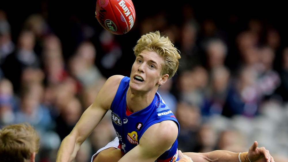 Tim English on debut for the Western Bulldogs