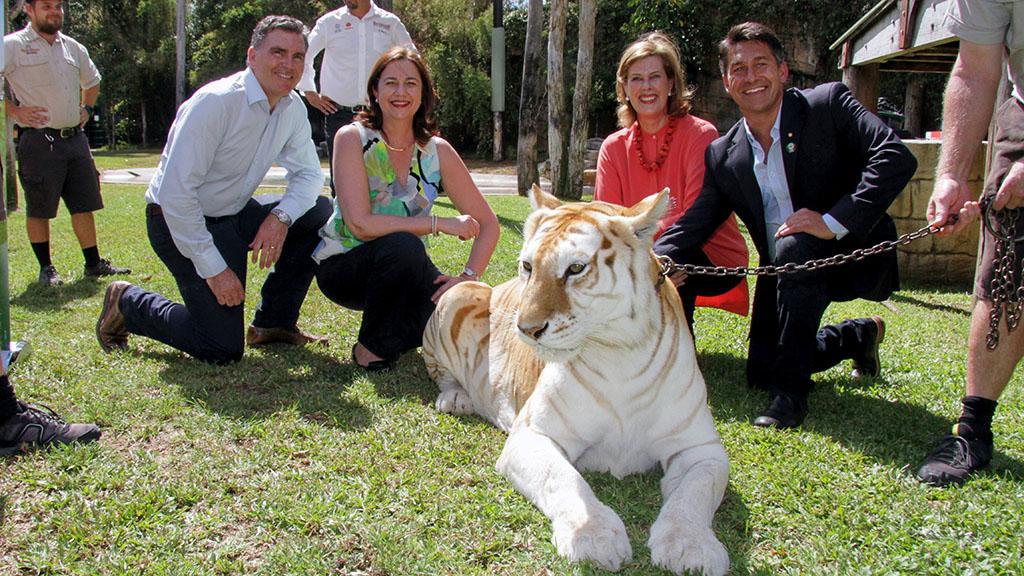 Queensland Premier Annastacia Palaszczuk visiting Sita in February 2016. (AAP)