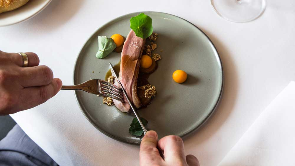 Matt Moran's duck breast with pumpkin and tamarind